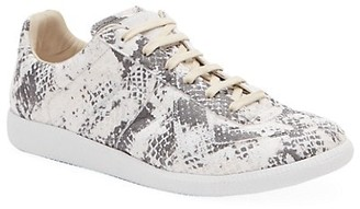 Maison Margiela Python Replica Low-Top Leather Sneakers
