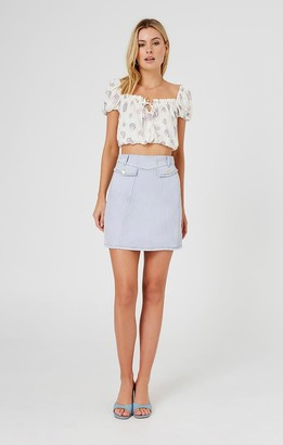 Finders Keepers ISLA SKIRT washed blue