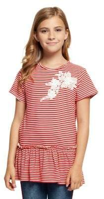 Dex Girl's Striped Floral Top