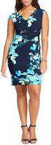 Lauren Ralph Lauren Plus Floral Ruched Dress