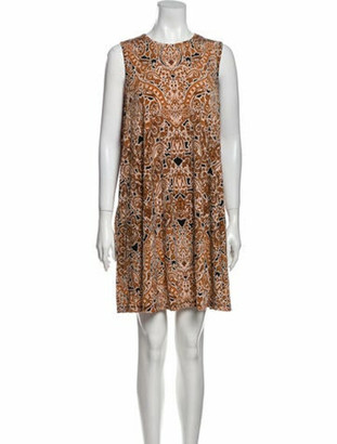 Nicole Miller Printed Sleeveless Mini Dress w/ Tags Black