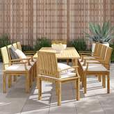 Anthony Logistics For Men Foundstone 11 Piece Teak Dining Set with Cushions Foundstone