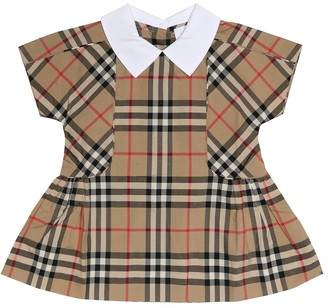 BURBERRY KIDS Baby Vintage Check cotton dress
