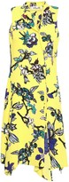 Diane von Furstenberg Draped Floral-print Silk-crepe Dress