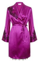 Marjolaine Baccarat Lace Detail Silk Robe