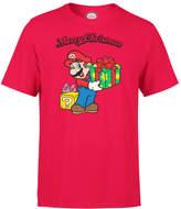 Nintendo Super Mario Mario Merry Christmas Red T-Shirt