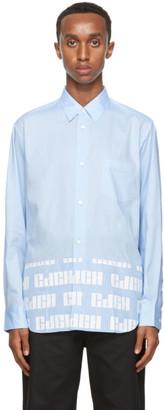 Comme des Garçons Homme Blue Striped Logo Hem Shirt