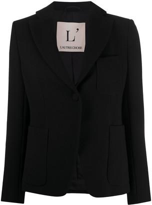 L'Autre Chose One-Button Wool Blazer