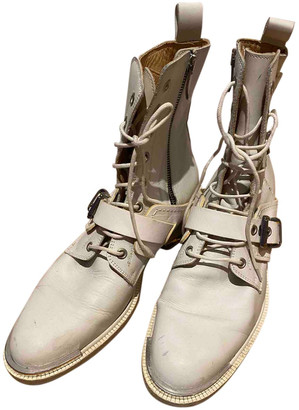 Barbara Bui White Leather Ankle boots