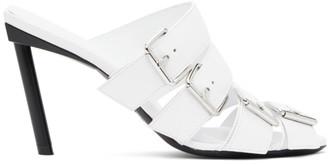 Balenciaga White Buckle Mules