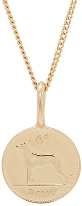 Katie Mullally Irish 6D Coin Necklace In Rose Gold Plate