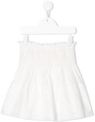 Chloé Kids Embroidered Pull-On Skirt