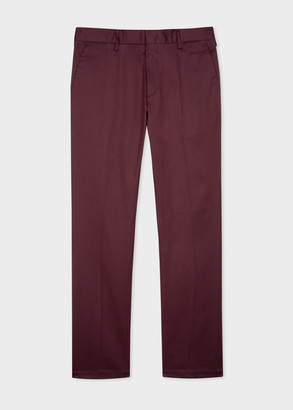Paul Smith Men's Slim-Fit Burgundy Organic Cotton-Stretch Chinos