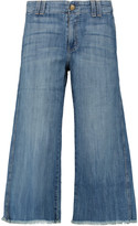 Current/Elliott The Cropped Hampden mid-rise flared jeans
