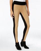 Kensie Faux-Suede Colorblocked Leggings, A Macy's Exclusive Style