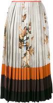 Fendi pleated printed skirt