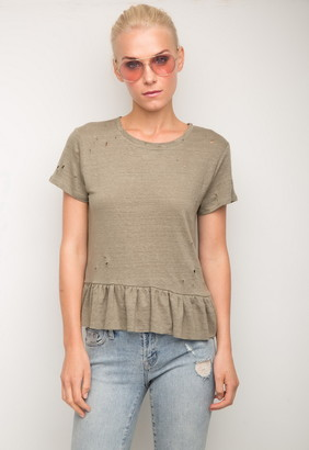 Singer22 Athena Ruffle Short Sleeve Top