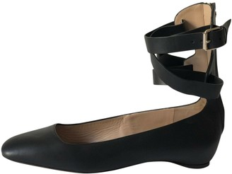 Valentino Black Leather Ballet flats
