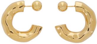 Sophie Buhai Gold Small Giacometti Hoop Earrings