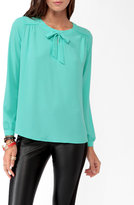 Forever 21 Keyhole Tie Blouse