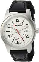 Wenger Men's 'Field Gear' Swiss Quartz Stainless Steel and Nylon Casual Watch, Color:Black