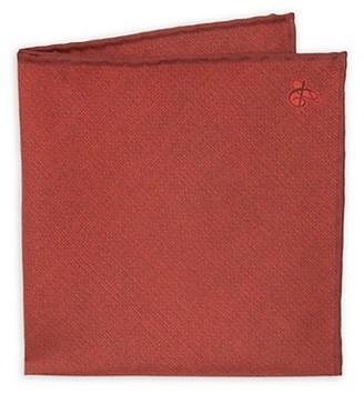 Canali Solid Silk Pocket Square