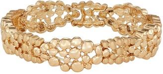Dana Buchman Gold Stretch Cluster Pod Bracelet