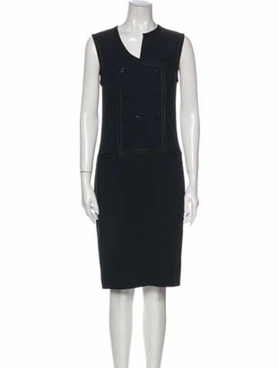 Chanel 2002 Knee-Length Dress Blue