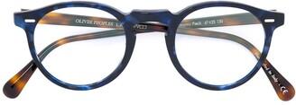 Oliver Peoples Gregory Peck round frame glasses