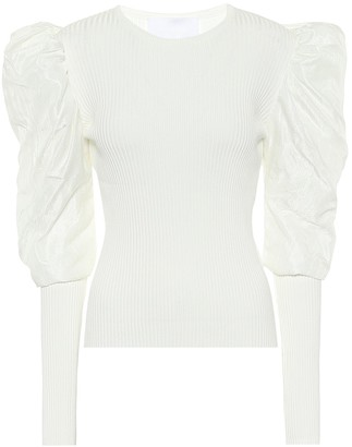 Costarellos Maura ribbed-knit top