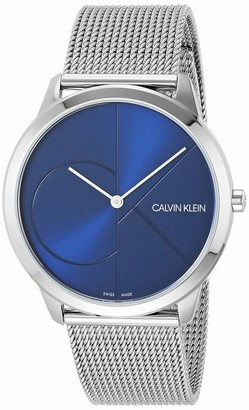 Calvin Klein Mens Minimal Watch - K3M2112N Blue/Silver One Size