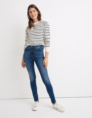 "Madewell Petite 10"" High-Rise Roadtripper Jeans in Ridgefield Wash: Zip-Front Edition"