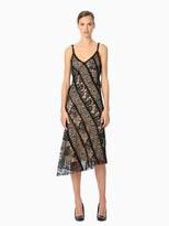 Jason Wu Corded Web Lace Vneck Cocktail Dress