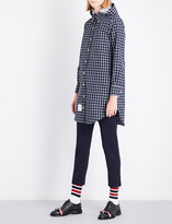 Thom Browne Checked hooded woven shirt
