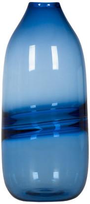 Casamotion Vases Hand Blown Art Glass Vase, Optic Contemporary Vases, Blue