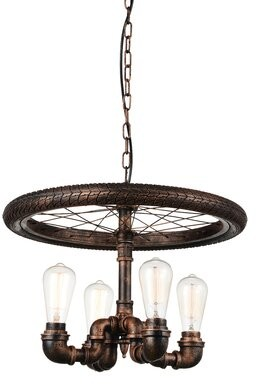 Williston Forge Thurman 4 Light Unique Statement Wagon Wheel Chandelier Shopstyle