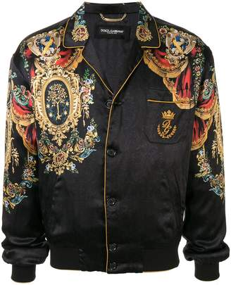 Dolce & Gabbana Heraldic print bomber jacket