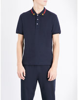 Gucci Bee-appliqué Stretch-cotton Polo Shirt