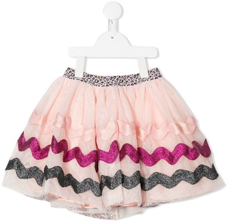 Billieblush Layered Bead-Embellished Skirt
