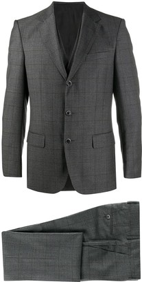 HUGO BOSS Checked Pattern Two-Piece Suit