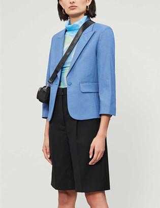 Zadig & Voltaire Valdy crystal-embellished twill blazer
