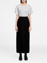 DKNY Pure Striped Cropped Top With Side Slits