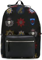 Alexander McQueen skull badge print backpack