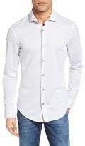 BOSS Men's Ridley Trim Fit Jersey Sport Shirt