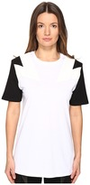 Neil Barrett New Modernist T-Shirt Jersey + Eco Suede Women's T Shirt