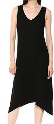 Michael Stars Women's 2x1 Rib Cross Back Tank Dress