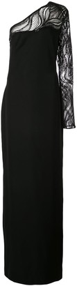 Tadashi Shoji sequinned one-shoulder gown