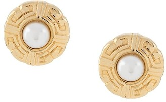 Givenchy Pre Owned 1980s Pearl Post Earrings