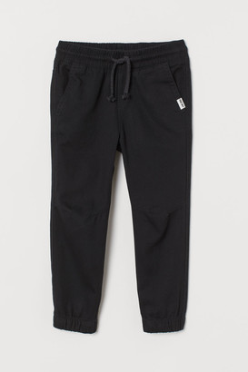 H&M Cotton Pull-on Pants - Black