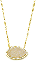 Marcia Moran White Druzy Pendant Necklace